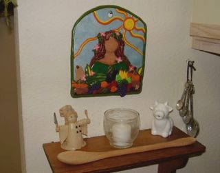 Kitchen altar